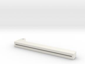 Clapper Lower in White Natural Versatile Plastic