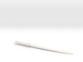 Katana letter opener in White Strong & Flexible