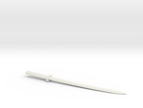 Katana letter opener in White Natural Versatile Plastic
