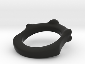 Skull and Bone Ring aprox size 11 in Black Strong & Flexible