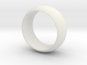 Three Holed Ring in White Natural Versatile Plastic