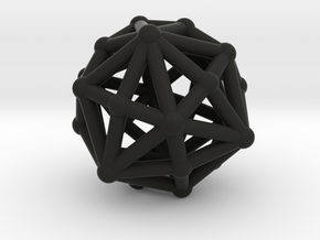 Dysdiakisdodecahedron in Black Strong & Flexible