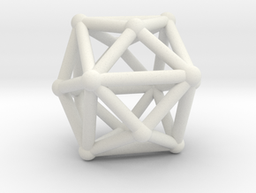 Tetrakishexahedron in White Strong & Flexible