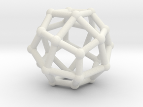 Deltoidal icositetrahedron in White Natural Versatile Plastic