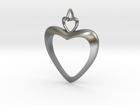Loving Heart in Raw Silver