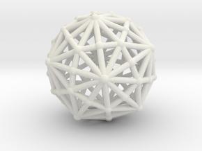 Dysdiakistriacontahedron in White Natural Versatile Plastic
