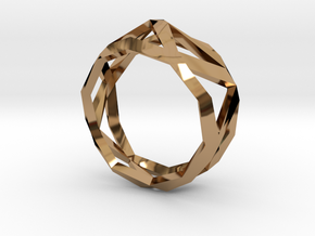 Comion ring medium  in Polished Brass