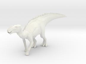 Gryposaurus Dinosaur Small HOLLOW in White Natural Versatile Plastic