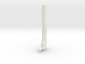 Wreckers gun 03 in White Natural Versatile Plastic
