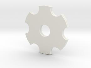 gears.dae in White Natural Versatile Plastic