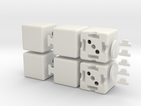 The Floppy 1x2x3 in White Natural Versatile Plastic