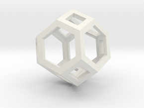 Truncated octahedron in White Strong & Flexible
