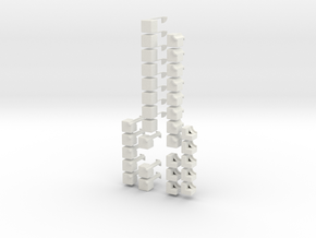 2x2x8 Rubiks Cube in White Natural Versatile Plastic