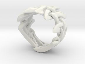 Celtic Weave 2 - version 2 in White Natural Versatile Plastic