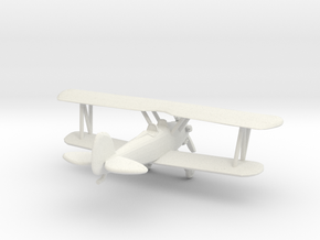 Biplane - Z scale in White Natural Versatile Plastic