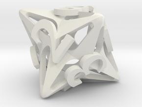 Pinwheel d8 in White Natural Versatile Plastic