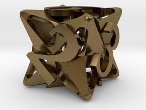 Pinwheel d6 in Natural Bronze