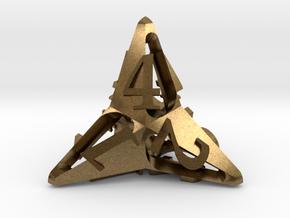Pinwheel Die4 in Natural Bronze
