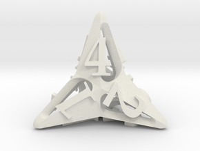 Pinwheel d4 in White Natural Versatile Plastic