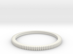 gear ring in White Natural Versatile Plastic