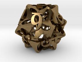 Pinwheel d12 in Natural Bronze