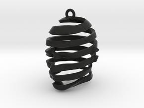 Escherian Head Earring in Black Strong & Flexible