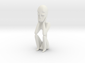 Gold Thinker in White Natural Versatile Plastic
