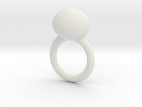 deel 2 ring met worm in White Natural Versatile Plastic