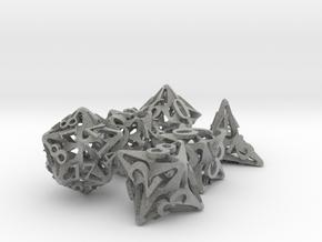 Pinwheel Dice Set in Metallic Plastic