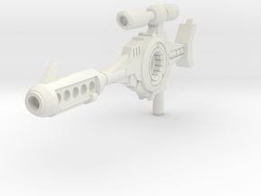 Classics G1 Blaster Rifle - 5mm Handle in White Natural Versatile Plastic