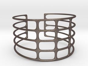 Bracciale07 in Polished Bronzed Silver Steel