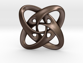 Sphere eversion (pendant) in Matte Bronze Steel