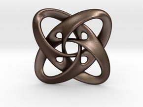 Sphere eversion (pendant) in Matte Bronze Steel