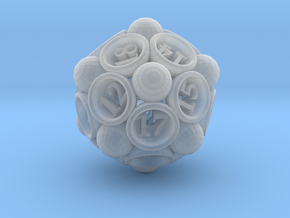 Spore d20 in Smooth Fine Detail Plastic
