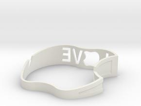 Love Seat for iPad in White Natural Versatile Plastic