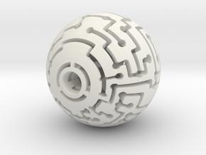 Mazeball Padlock 2 in White Natural Versatile Plastic