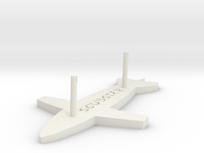 Scubster 1/43th stand  in White Natural Versatile Plastic