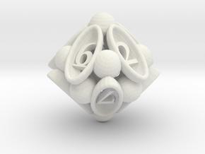 Spore d10 in White Natural Versatile Plastic