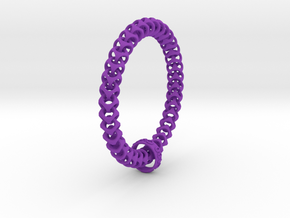 Cubichain Bracelet (Multiple sizes) in Purple Strong & Flexible Polished