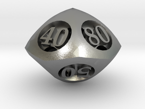 Overstuffed Decader d10 in Natural Silver