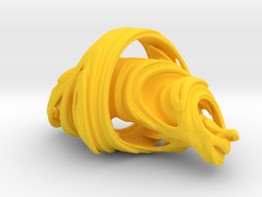 Julia Set Sculpture in Yellow Strong & Flexible Polished