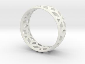 geometric ring 1 in White Natural Versatile Plastic