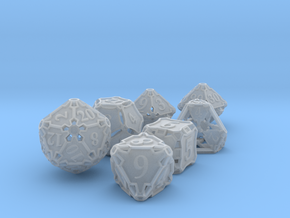 Large Premier Dice Set with Decader in Smooth Fine Detail Plastic
