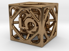 Cage d6 in Natural Brass