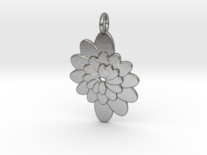 Spiral Flower 1 in Natural Silver