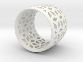 geometric ring 4 in White Strong & Flexible