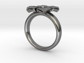 ring flower s 56 in Premium Silver