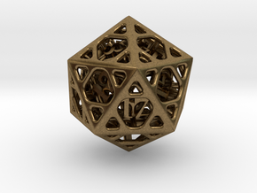 Cage d20 in Natural Bronze