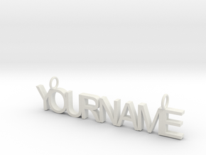 Custom Name necklace in White Strong & Flexible