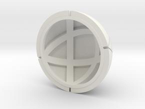 Kugel_3 in White Natural Versatile Plastic